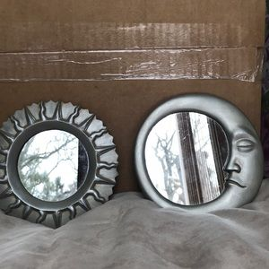 Sun and moon small mirrors
